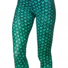 Mermaid Green Fashion Yoga Fitness Pants Scales Spandex Leggings Sports Outers