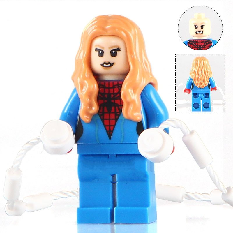 Marvel Spider-Woman Captain Super Hero minifigure Lego Compatible Toy