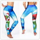 Waisted Monster Santa Claus Fitness Spandex Leggings Christmas Lovely Gift