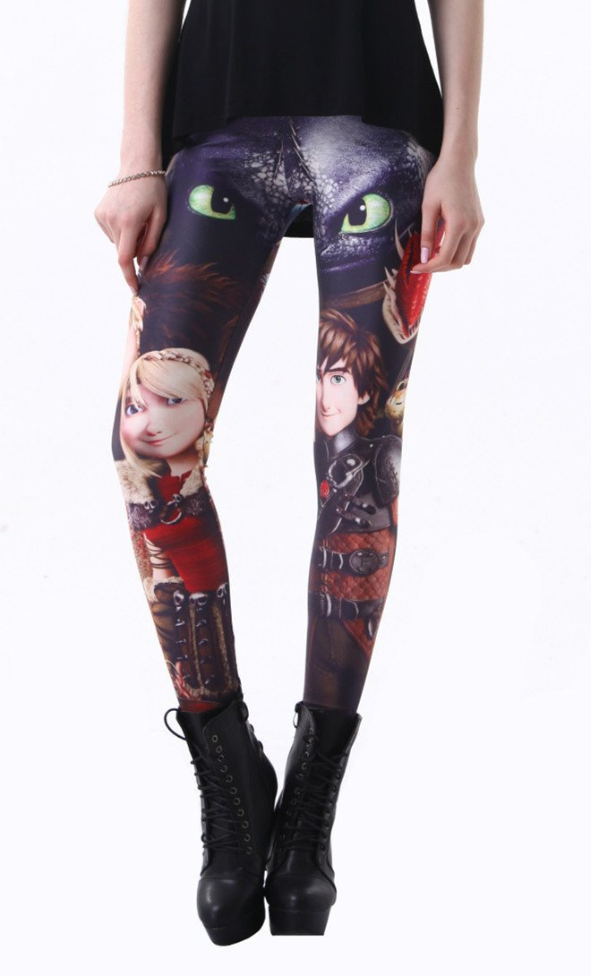 How to Train Your Dragon Workout Leggings Spandex Tights Pants for Women