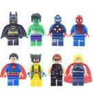 Avengers Super Heroes Wolverine Batman Minifigures Lego Compatible toys
