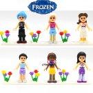 Friends Frozen Series Princess Anna Elsa building blocks action figure model bricks toys
