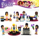Friends Pop Star Limo Music concert building blocks figure model Lego Compatible Minifigures Toys