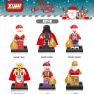 Star Wars Santa Joker C-3PO Harley Quinn Darth Vader building Minifigures Lego Compatible Toys