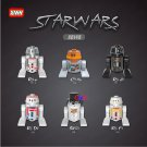 Star Wars R2D2 BB8 C-3PO K-2SO RSF7 SW424 RSD8 action figure set model Lego Compatible toys