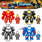 Large Big Iron Man Collection Series building Blocks Kid Gift sets Lego Minifigures Compatible toys