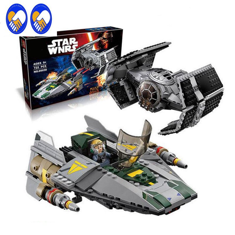 Star Wars Vader Tie Advanced VS A-wing Starfighter 75150 Lepie Compatible Toys