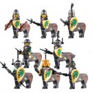 Medieval Castle Knight Set Green Dragon Knight Minifigure Lego Compatible Toys