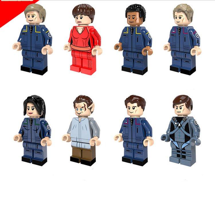 Star Trek Enterprise Uhura Scotty Eoward building Lego Compatible toys