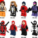 Deadpool Spider-Man Homecoming Paladin Venom Minifigures Lego Compatible toys