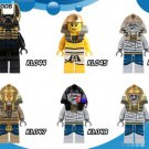 Golden Face Pharoah's Egyptian museum Lego Minifigures Compatible Toys