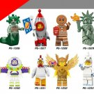 Series 17 Medusa Rockey Boy Gingerbread Man Unicorn Golden Lightan Minifigures Lego Compatible Toys