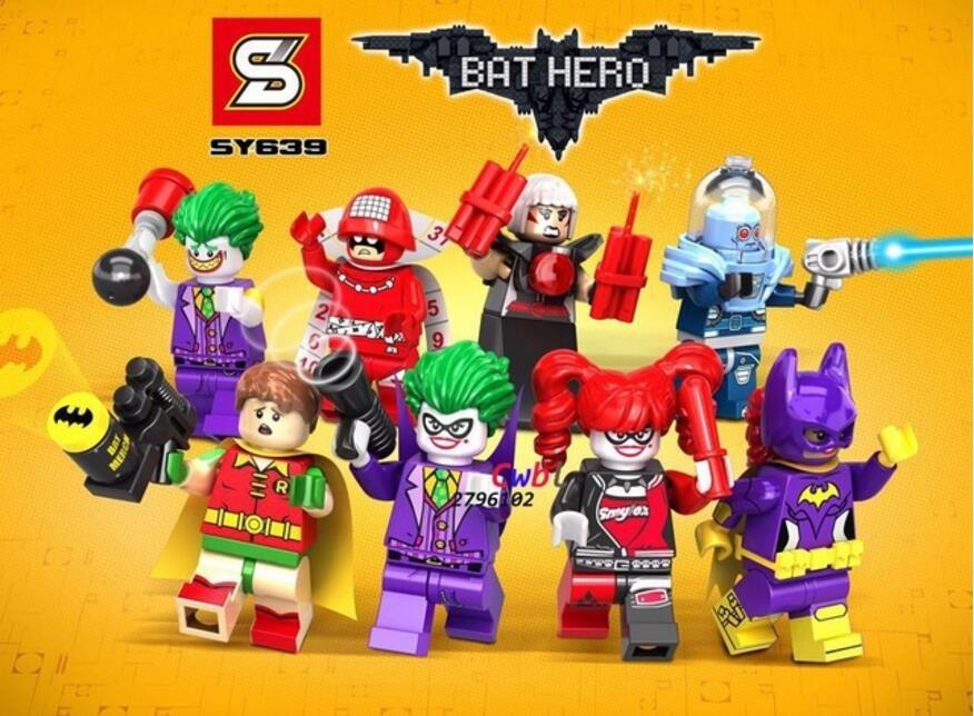 Batman Movie sets Minifigures Joker Harley Quinn Mister Freeze Lego Compatible Toys