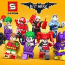 Batman Movie sets Minifigures Joker Harley Quinn Mister Freeze Lego Compatible Toys