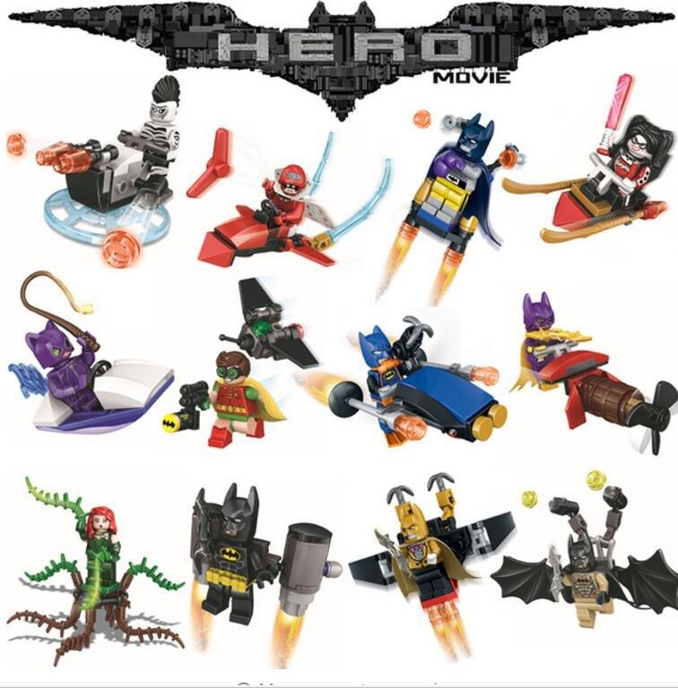 Batman Joker Robin Poison Ivy With Marvel Batman Movie sets Lego Compatible Toys