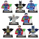 DC Superheroes Superman Batman Movie Mini minifigures Lego Compatible Toys