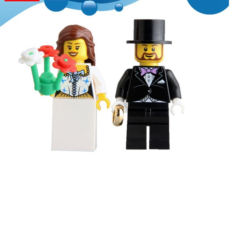 Wedding set Wedding cake topper minifigures Lego Compatible Toys