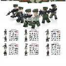 SWAT Army Troop World war mini figure green minifigure Lego Compatible Toys