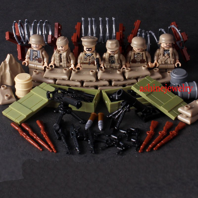 WW2 German SS Soldiers Military Minifigures Lego Compatible Toys