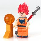 Dragon Ball Z Goku with Red hair Lego Anime minifigure Compatible Toys