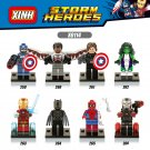 Marvel Avengers Captain America 3 minifigures Winter Soldier Iron Man Hulk Lego Compatible Toys