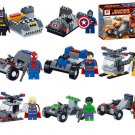 Marvel Superhero Minifigures Batman Spiderman Captain America X-men Superman Lego Fit