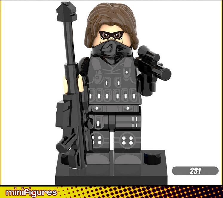 Captain America 3 Winter Soldier minifigures Marvel Movie Lego Compatible Toys