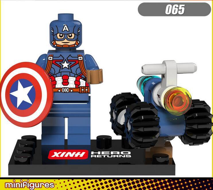 Marvel Avengers Superhero Sets Lego Captain America Minifigures Compatible Toys