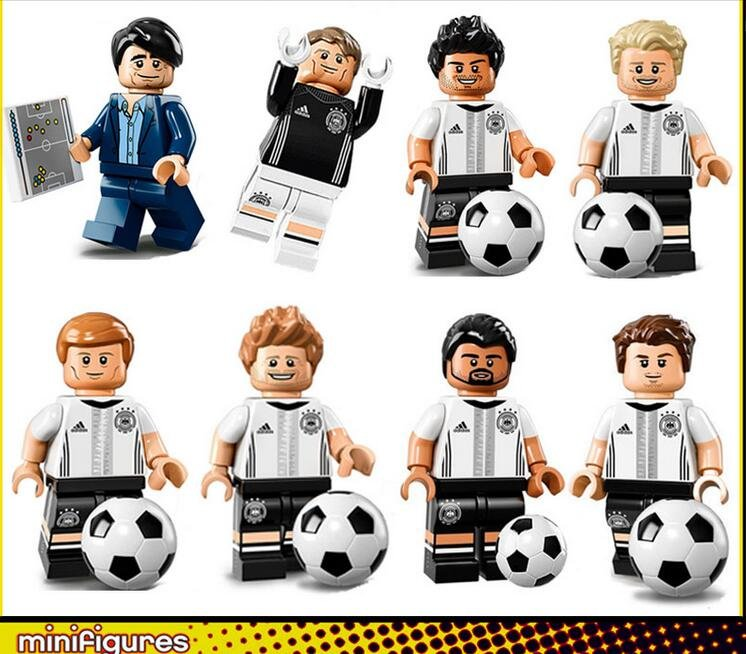 Football set Germany national football team minifigures Lego Compatible Toys