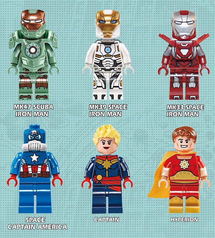 Marvel movie Captain America sets minifigures Lego Compatible Toys