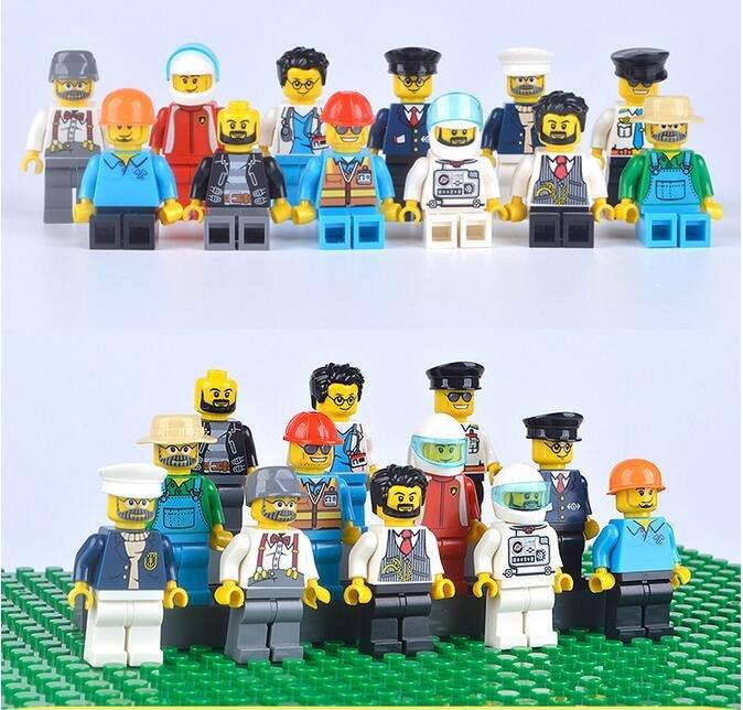 City Sets Minifigures Doctor Bus Driver Workers Pilot Lego Compatible Minifigs