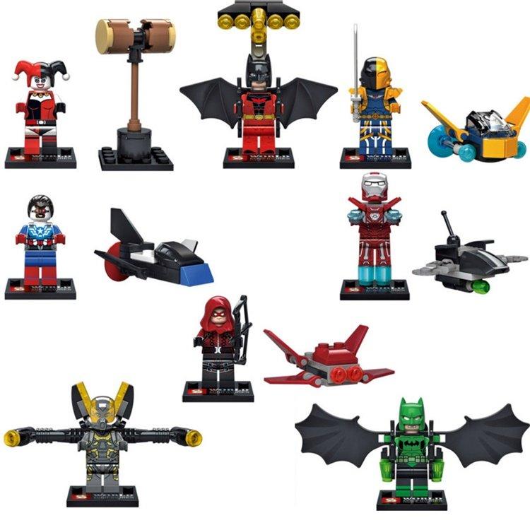 DC Marvel Superheroes Batman Iron Man Decisive battle Lego minifigures Compatible Toys
