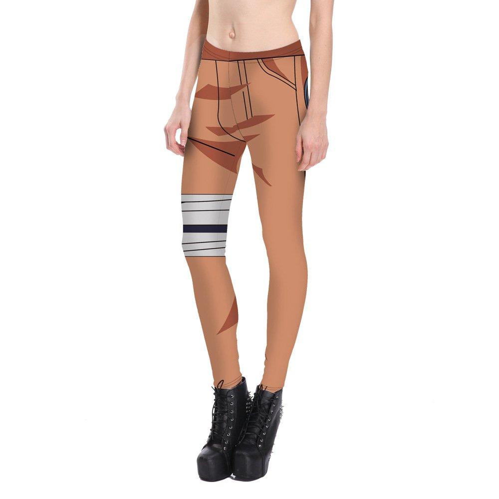 Womens Sports Leggings Caricature Spandex Pants for Ladies