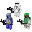 Star Wars Minifigures Bounty Hunters Jan Goffee Te,Boba Fett minifigure Lego Compatible Toy