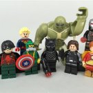 Marvel Superheros Sets Lego Ironman Hulk Batman Minifigures Fit Building Toys