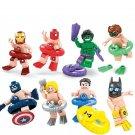 DC Marvel Super hero Summer Swim Ring Lego minifigures Compatible Toys