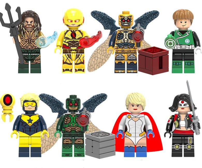 Dc Superhero Set Aquaman Green Lantern Minifigures Lego Compatible Toy