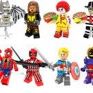 Superhero sets Iron Man Spiderman Deadpool minifigures Lego Compatible Toys
