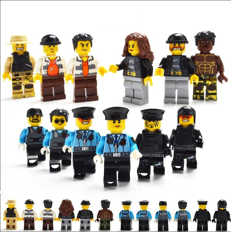 Police Thief Minifigures Lego City Sets Compatible Toys