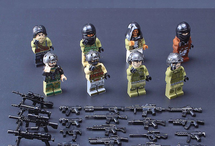 American Army And Terrorists Minifigures Military Building Block Toy