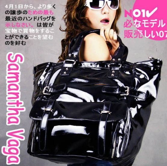 SV  PATENT LEATHER TOTE B668