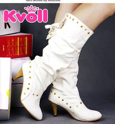 DESIGNER STYLE  HIGH HEEL BOOTS WITH STUDS DETAILS