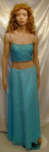 Tiffany Designs 2 PC Formal Beaded Top Prom Cruise Sz. 8  #505