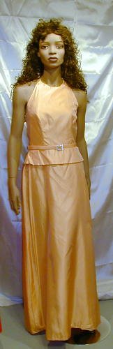 Alfred Angelo Gorgeous Tangerine Formal Gown Bridesmaid Cruise Mother Of The Bride Sz 10 #578