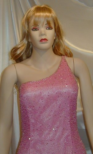 Gorgeous Head To Toe Beads J.E. Matadi Pageant Prom Gown Formal Sz 8 #658