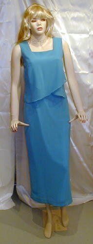 541 Lovely New Dress Bridesmaid MOB Cruise Church Aqua  14