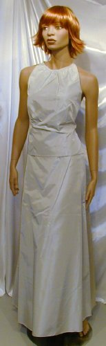 645 Lovely New Champaign Formals GownFormal Prom Bridesmaid Halter Dance Sz 13  14
