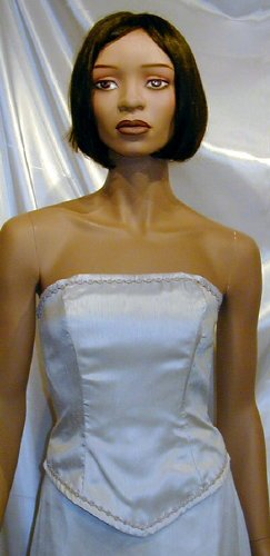 NEW Strapless Formal Bridesmaid Prom Cruise Platinum  6  #650
