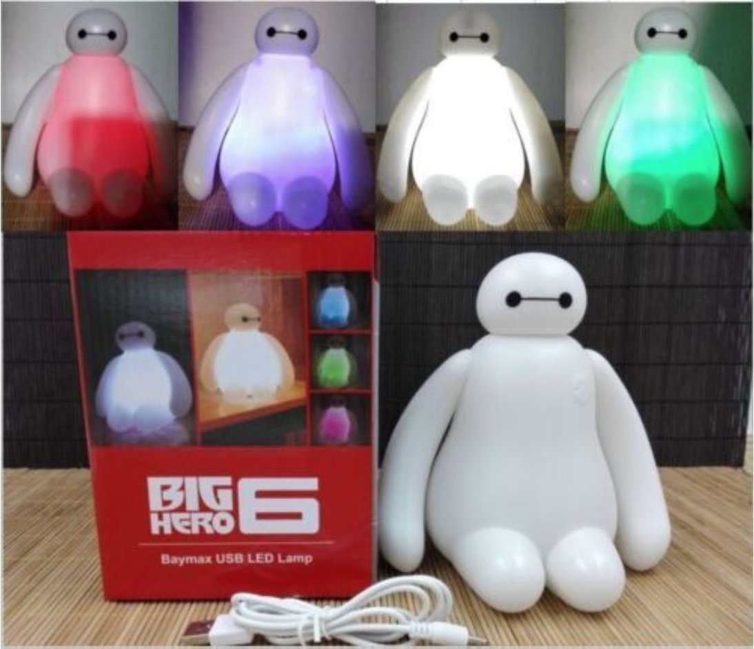 New Color Changing Big Hero 6 Baymax USB LED Table Desk Lamp Light Night Light