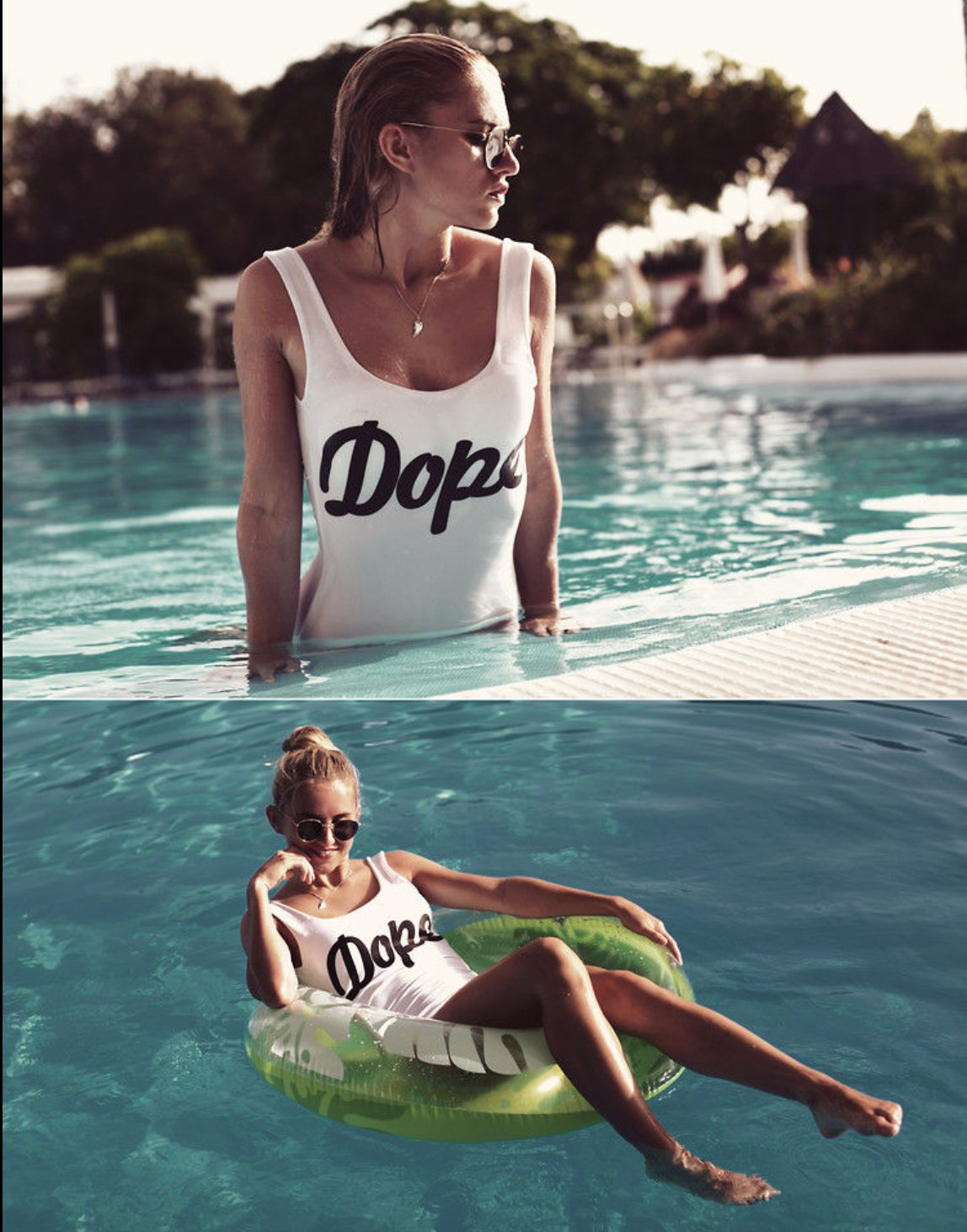 Women Dope One Piece Swimsuit EXCELLENT QUALITY S,M,L Black and White